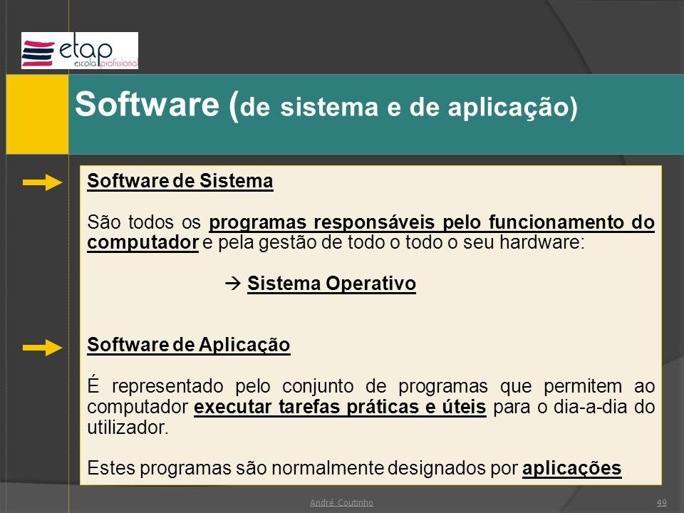 Software (de sistema e de aplicação)