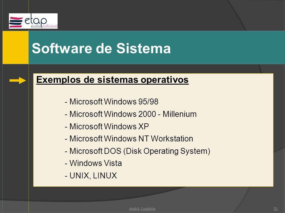 Software de Sistema Exemplos de sistemas operativos
