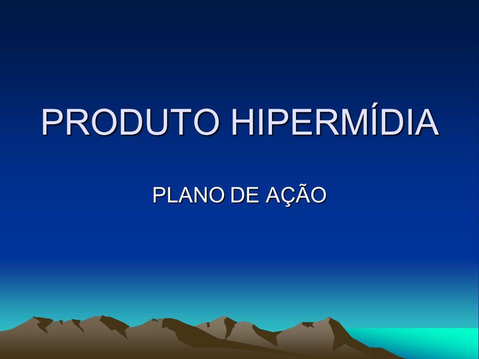 PRODUTO HIPERMÍDIA PLANO DE AÇÃO