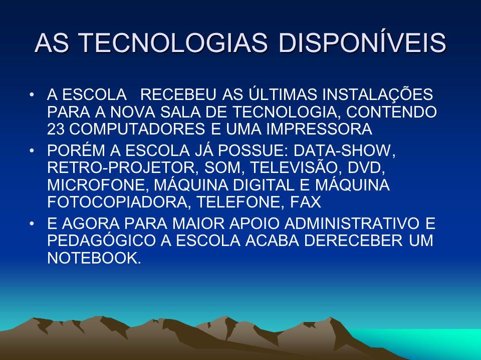 AS TECNOLOGIAS DISPONÍVEIS