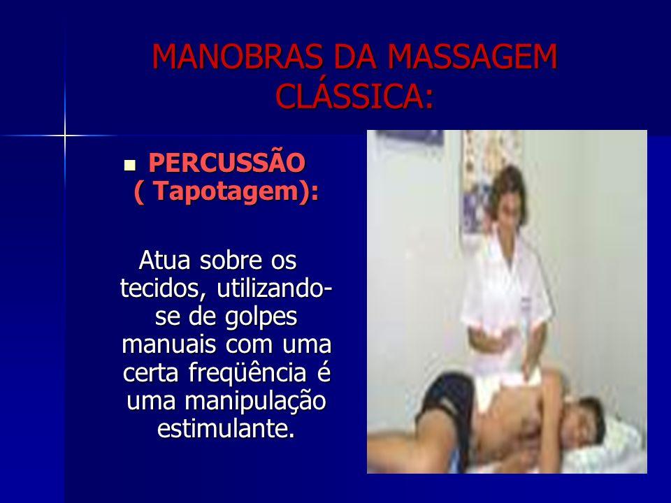 MANOBRAS DA MASSAGEM CLÁSSICA: