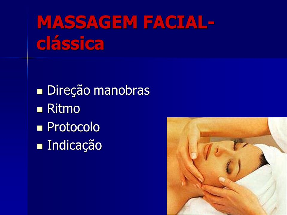 MASSAGEM FACIAL- clássica