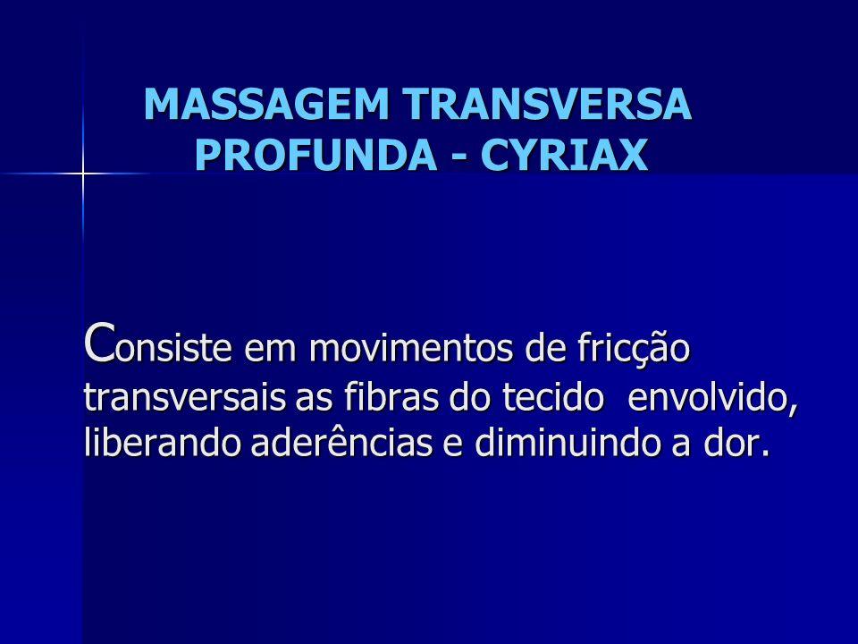MASSAGEM TRANSVERSA PROFUNDA - CYRIAX