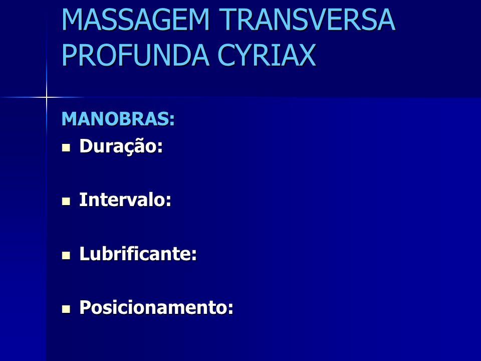 MASSAGEM TRANSVERSA PROFUNDA CYRIAX