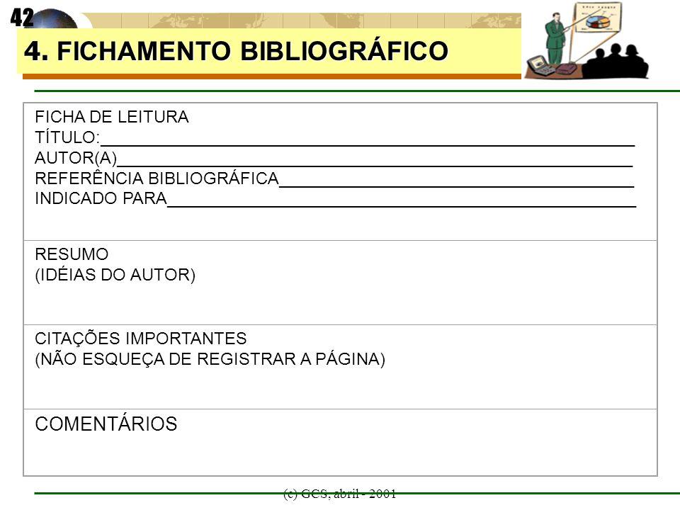 4. FICHAMENTO BIBLIOGRÁFICO