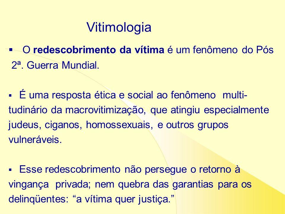 Vitimologia O redescobrimento da vítima é um fenômeno do Pós