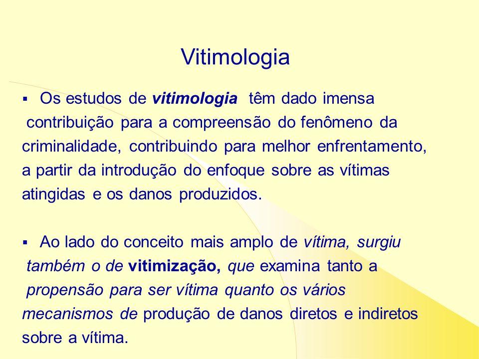 Vitimologia Os estudos de vitimologia têm dado imensa