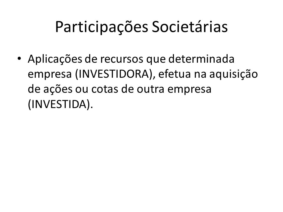 Participações Societárias