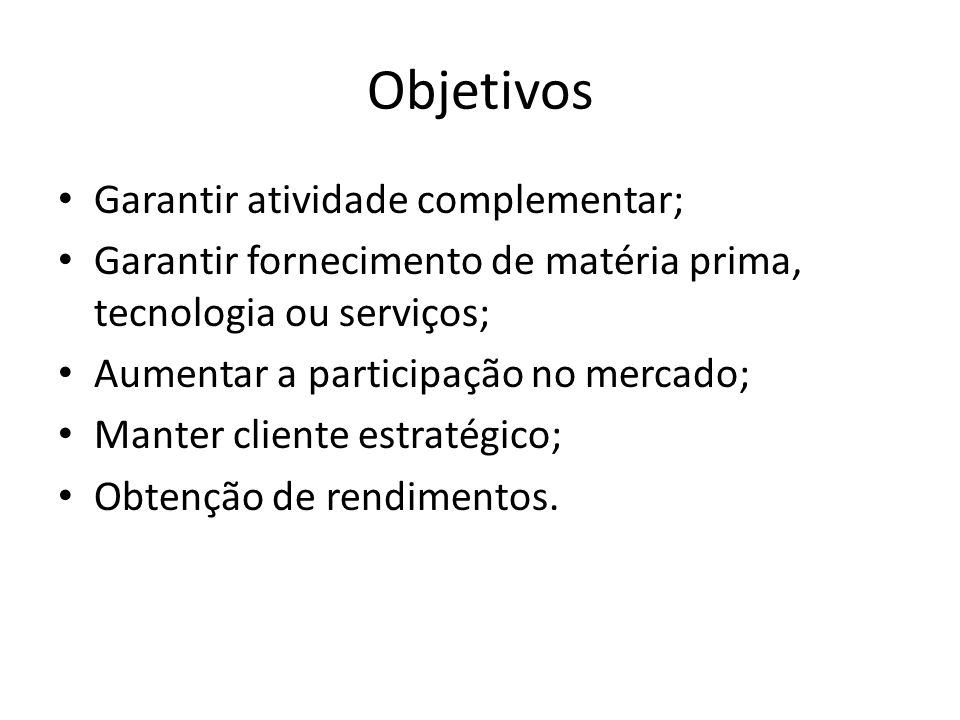 Objetivos Garantir atividade complementar;