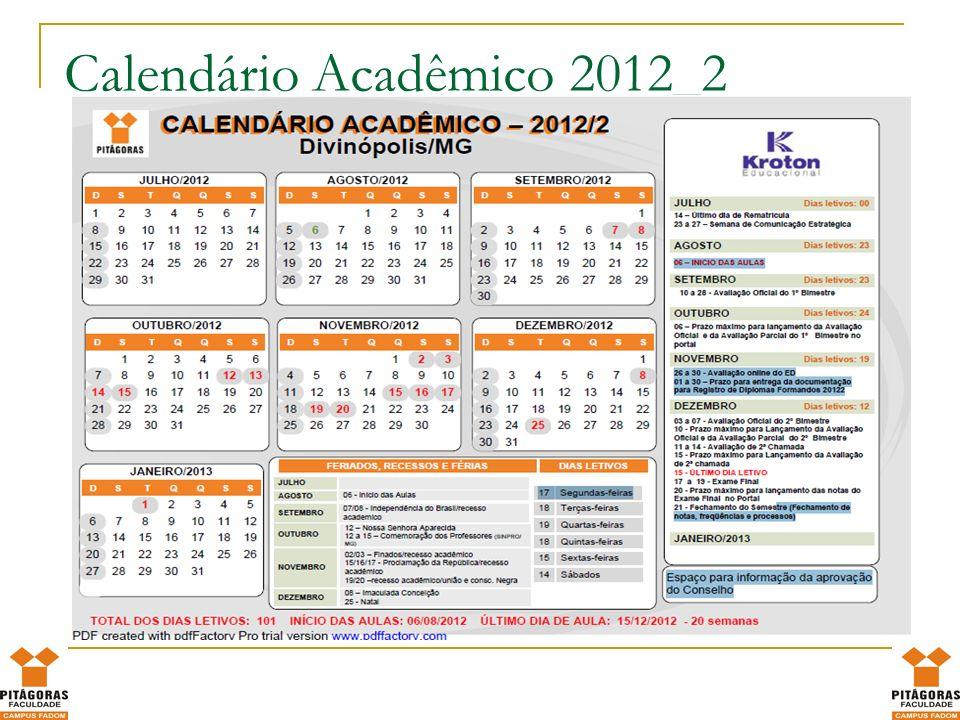 Calendário Acadêmico 2012_2