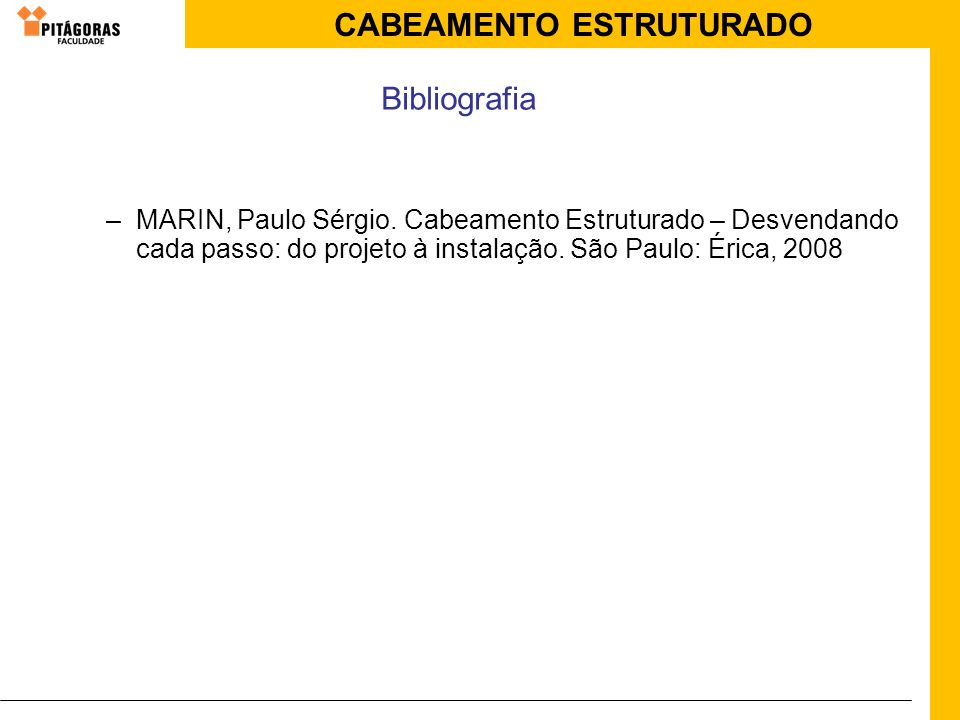 Bibliografia MARIN, Paulo Sérgio.