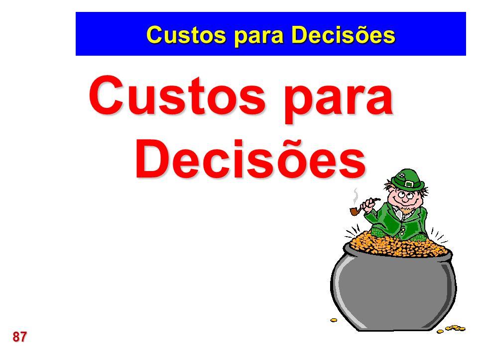 Custos para Decisões Custos para Decisões