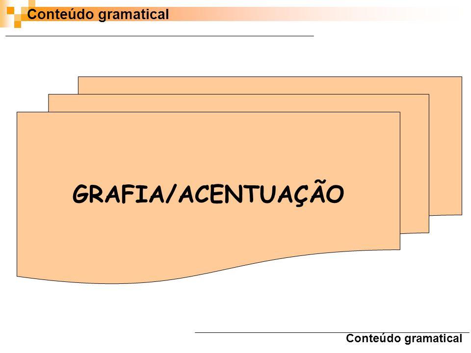 Conteúdo gramatical GRAFIA/ACENTUAÇÃO Conteúdo gramatical