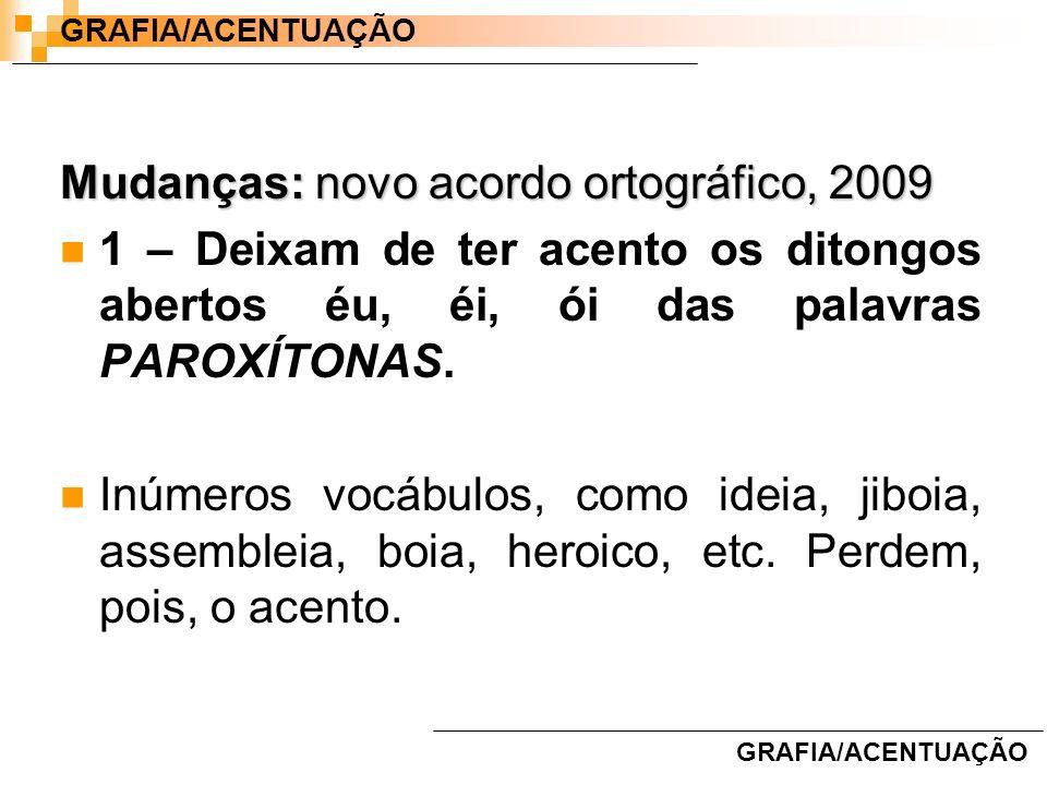Mudanças: novo acordo ortográfico, 2009