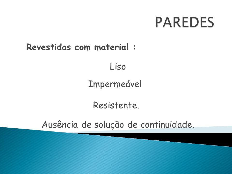 Revestidas com material :