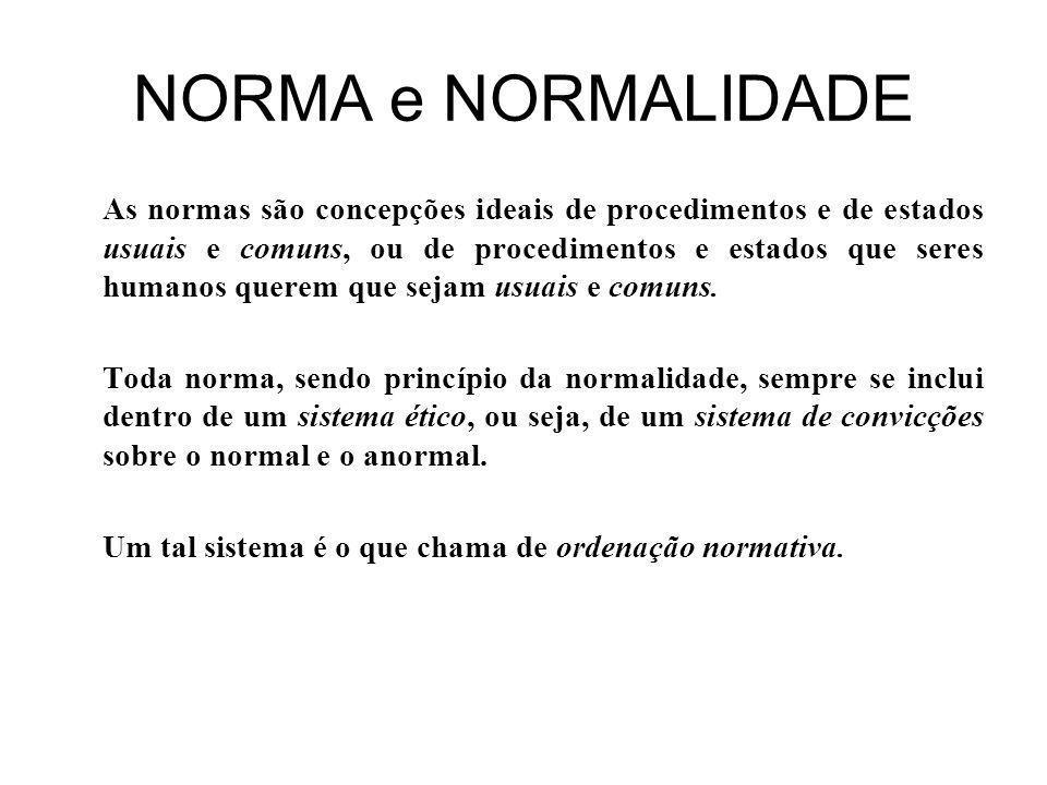 NORMA e NORMALIDADE
