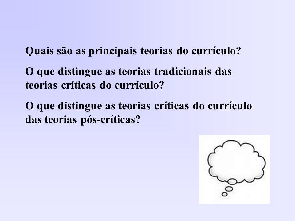 Quais são as principais teorias do currículo
