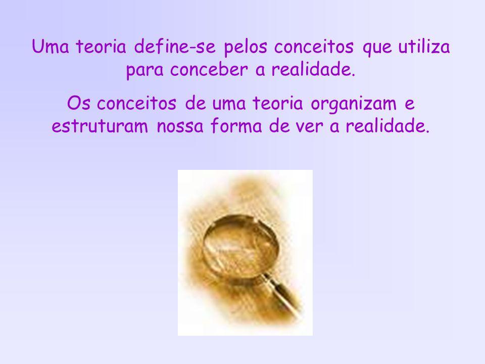 Uma teoria define-se pelos conceitos que utiliza para conceber a realidade.