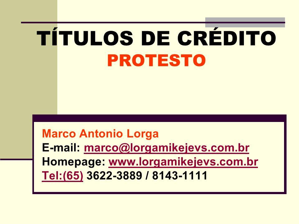 TÍTULOS DE CRÉDITO PROTESTO