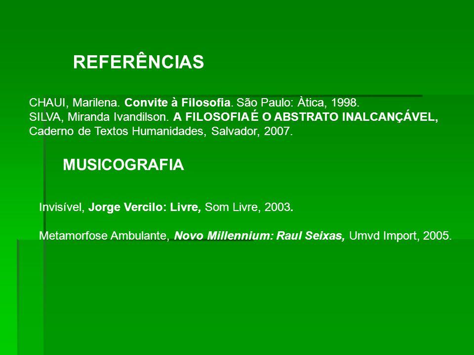 REFERÊNCIAS MUSICOGRAFIA