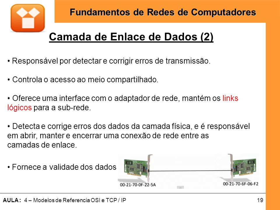 Camada de Enlace de Dados (2)