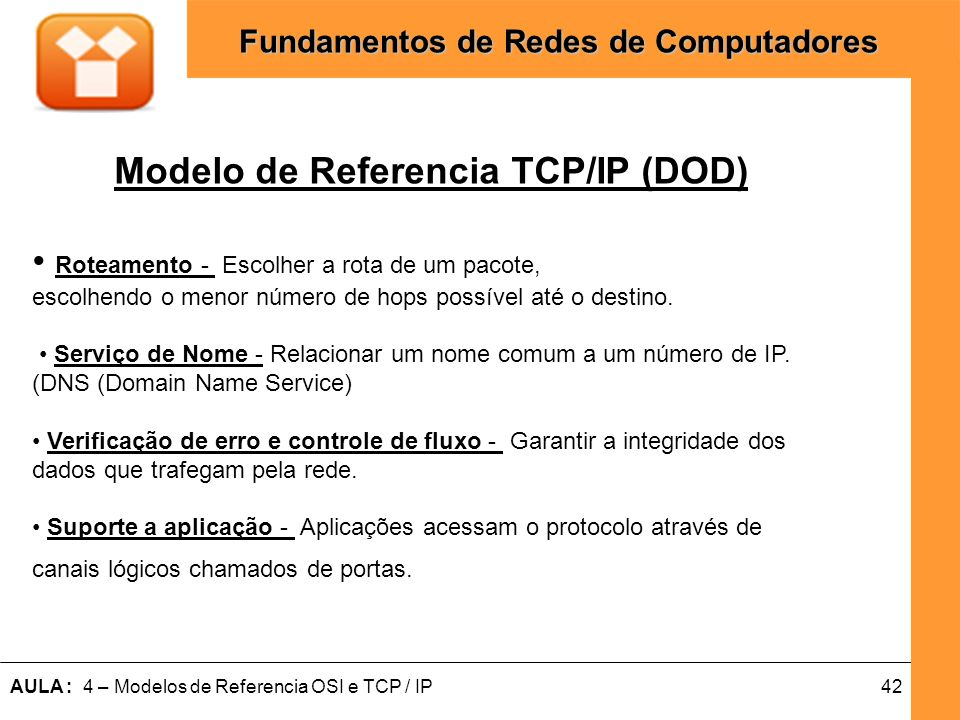 Modelo de Referencia TCP/IP (DOD)