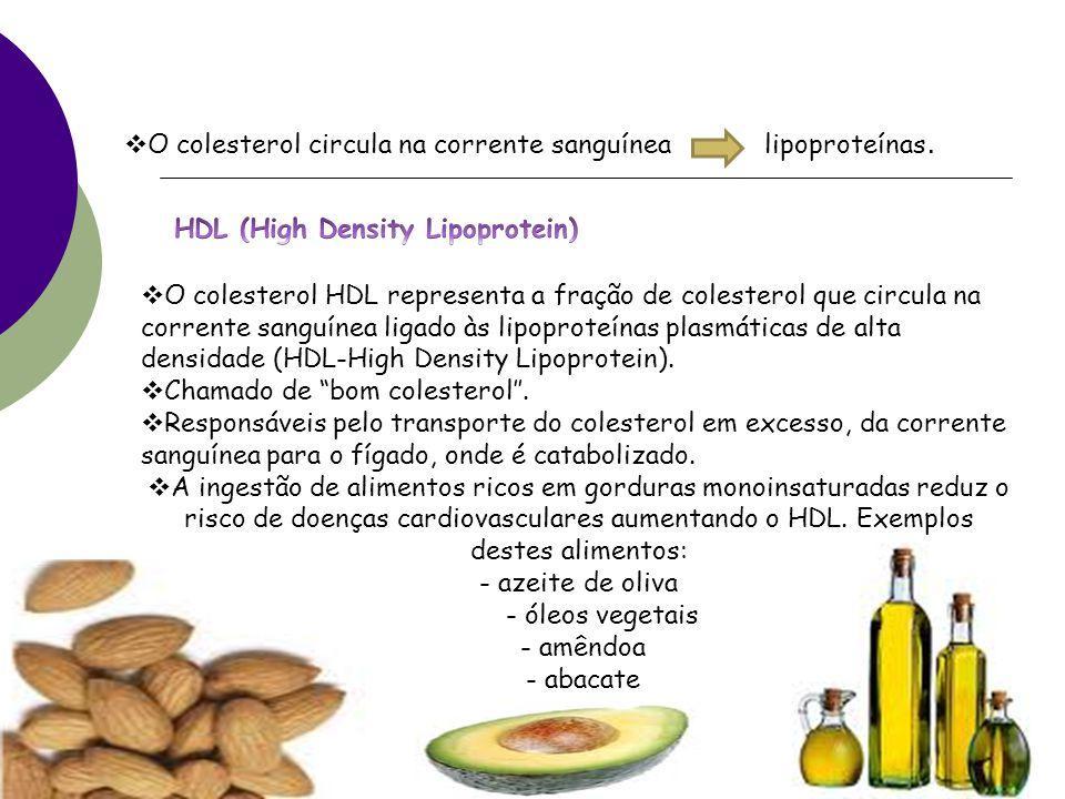 O colesterol circula na corrente sanguínea lipoproteínas.