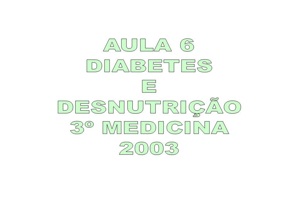 AULA 6 DIABETES E DESNUTRIÇÃO 3º MEDICINA 2003