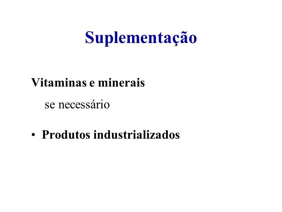 Suplementação Vitaminas e minerais se se necessário