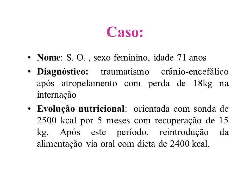 Caso: Nome: S. O. , sexo feminino, idade 71 anos