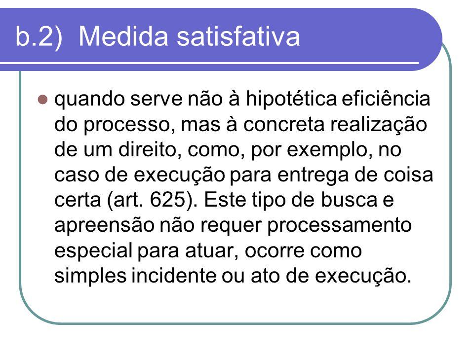 b.2) Medida satisfativa