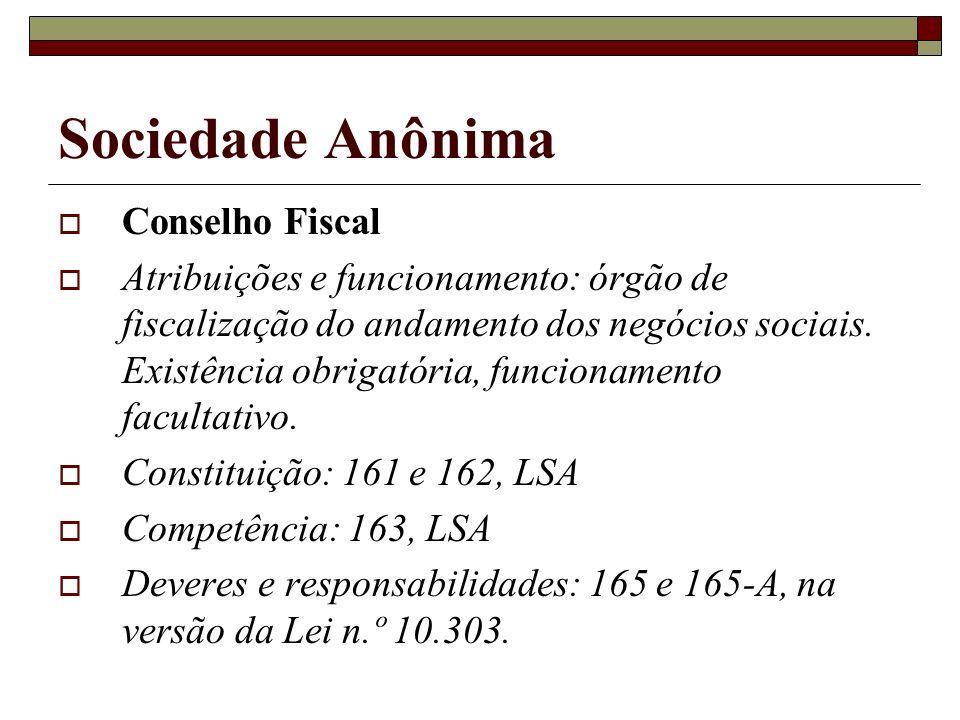 Sociedade Anônima Conselho Fiscal