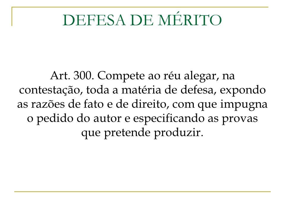 DEFESA DE MÉRITO