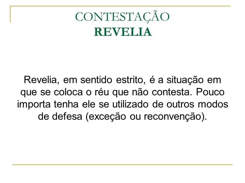 CONTESTAÇÃO REVELIA
