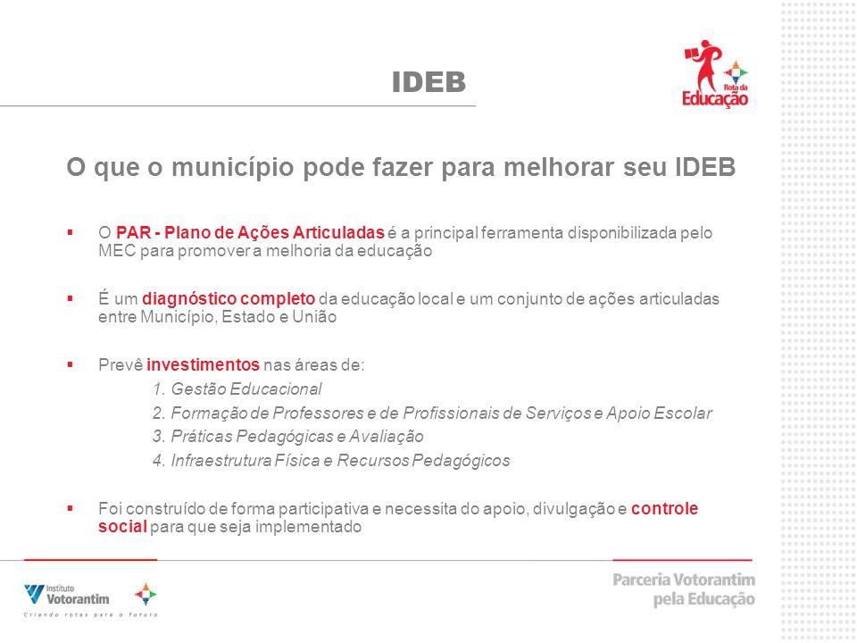 IDEB O que o município pode fazer para melhorar seu IDEB