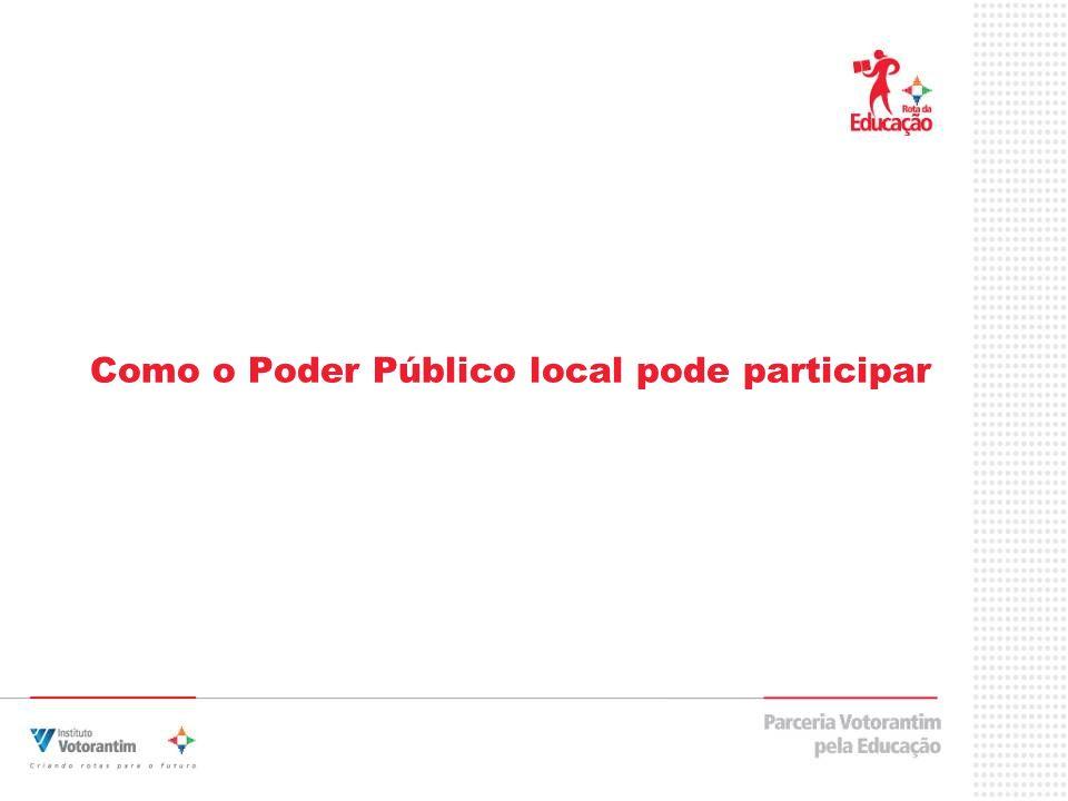 Como o Poder Público local pode participar