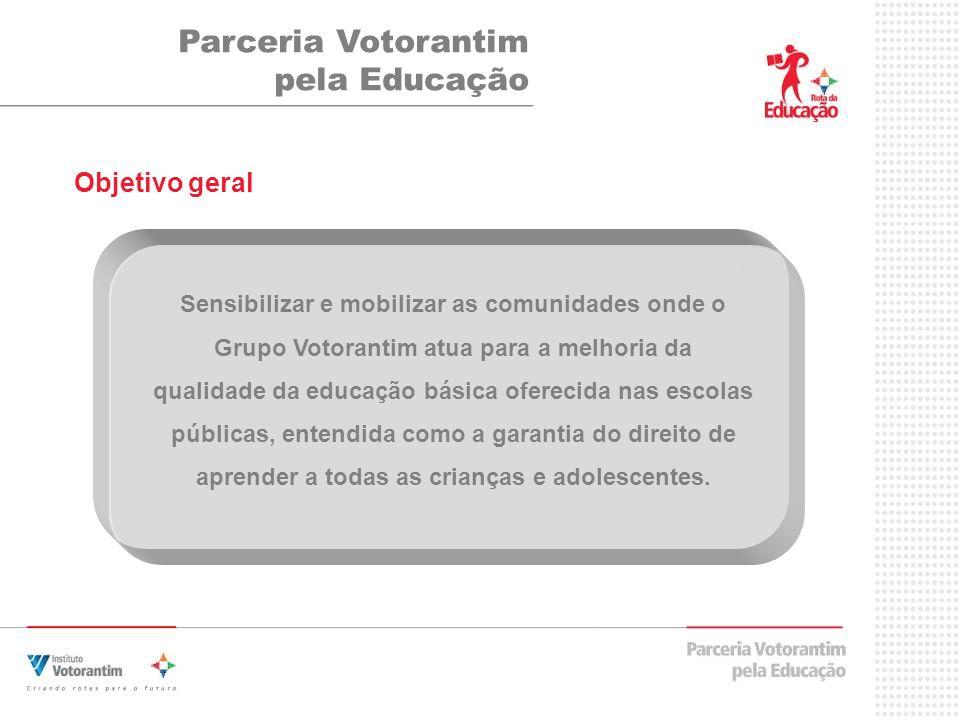 Parceria Votorantim pela Educação Objetivo geral