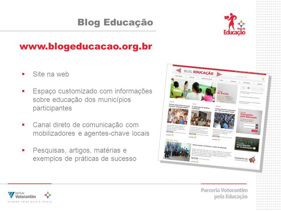 Blog Educação www.blogeducacao.org.br Site na web