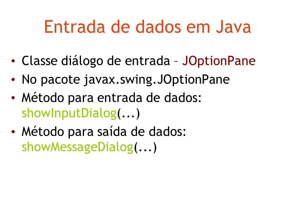 Entrada de dados em Java