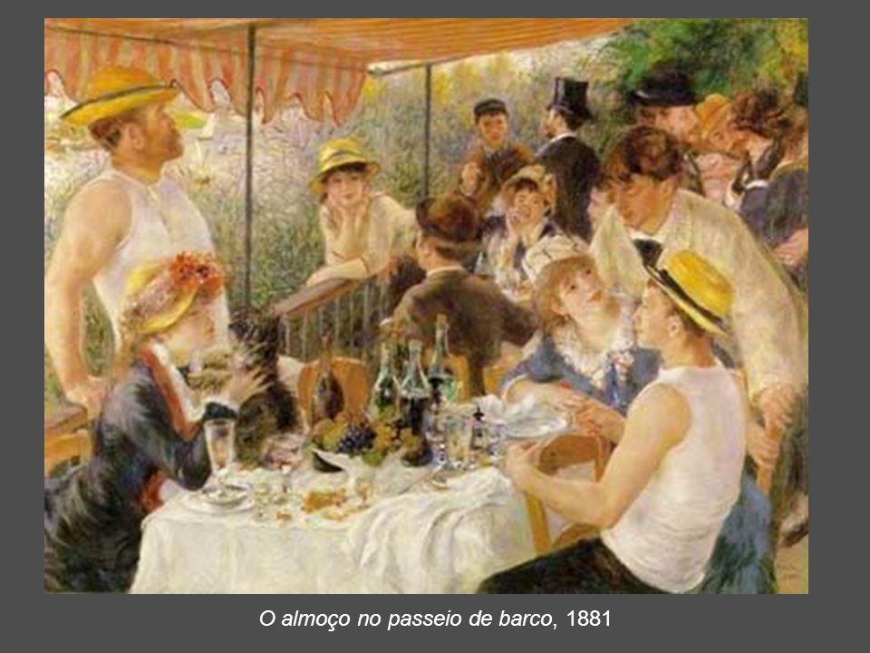 O almoço no passeio de barco, 1881