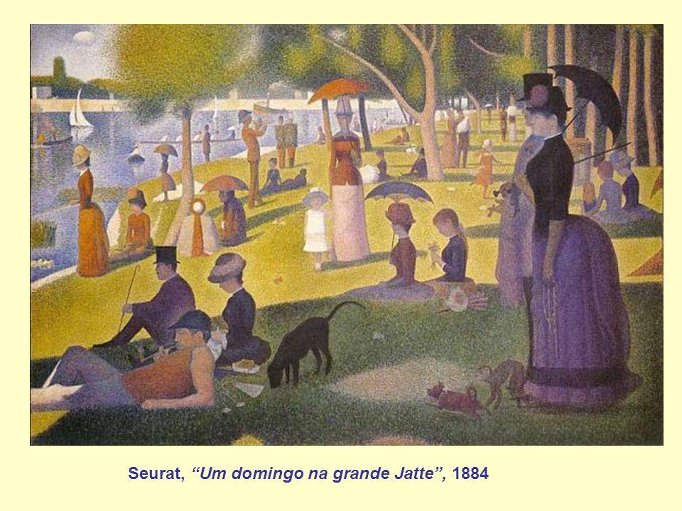 Seurat, Um domingo na grande Jatte , 1884