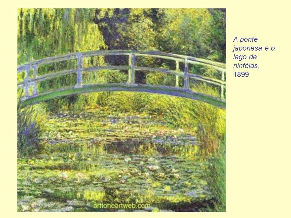 A ponte japonesa e o lago de ninféias, 1899