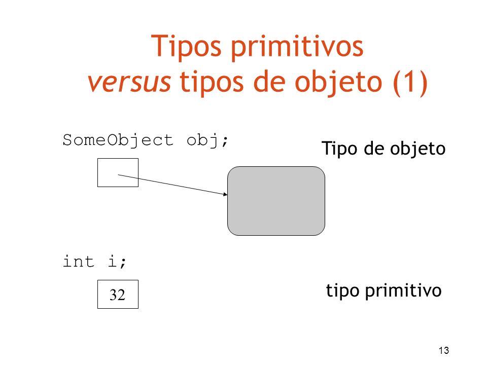 Tipos primitivos versus tipos de objeto (1)