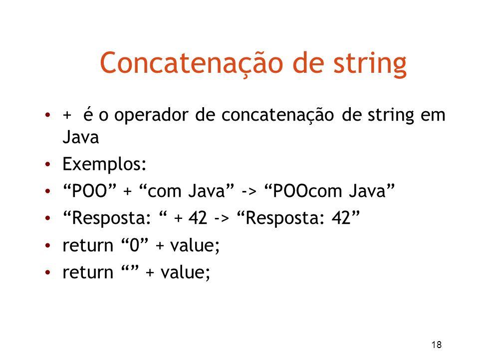 Concatenação de string
