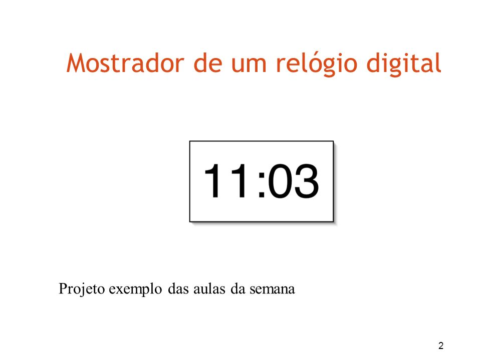Mostrador de um relógio digital