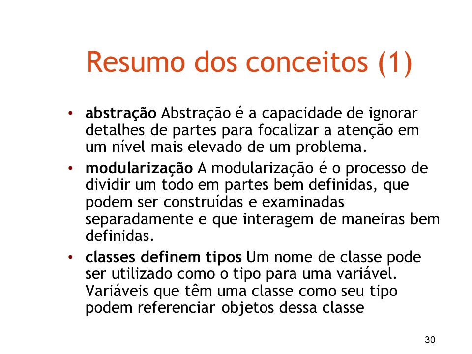 Resumo dos conceitos (1)