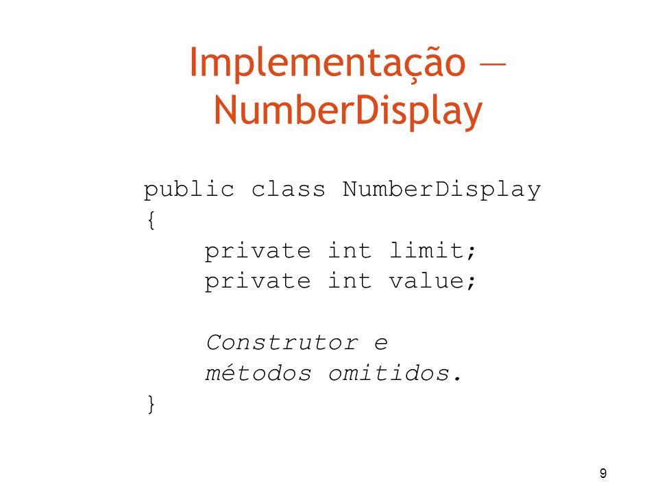 Implementação — NumberDisplay