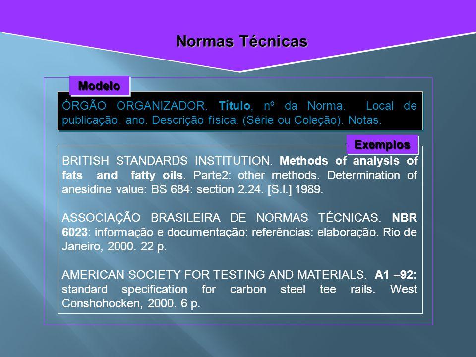 Normas Técnicas Modelo