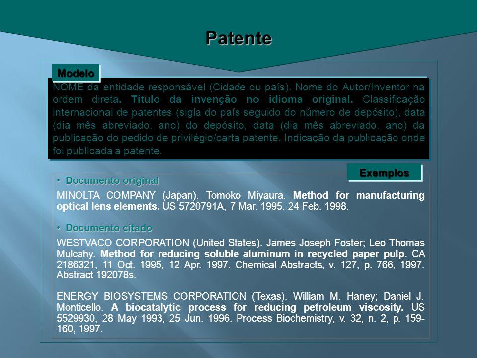 Patente Modelo.