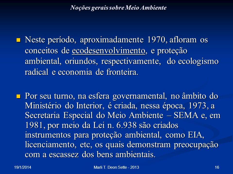 Noções gerais sobre Meio Ambiente